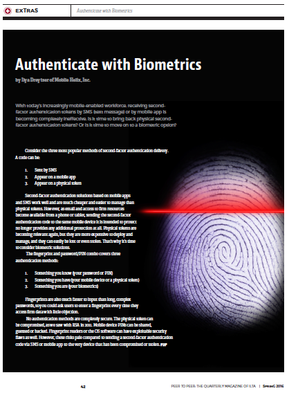 ILTA Authentication with Biometrics ILTA Spring 2016