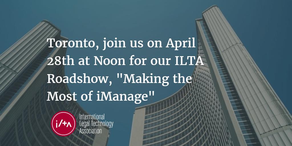 ILTA Roadshow Toronto 2016-04-28