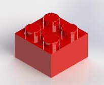 LEGO red 2 x 2