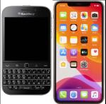 BlackBerry and iPhone 11 Smart Phones